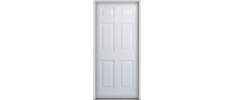 6PANELSTEEL - 20 Minute Fire Door 