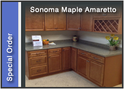 Sonoma Maple Amaretto Cabinets