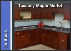 Tuscany Maple Merlot Cabinets