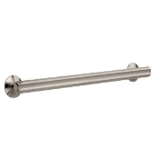 """24GRABBAR - Safety First <br> Designer Grab Bar <br> 24"""" Straight Bar <br> Brushed Nickel <br> $19.99"""