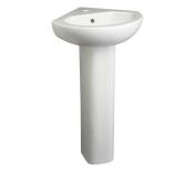 "SET31DANZECOBALT - Set #31<br> Danze Cobalt Collection<br> 15"" Corner Pedestal<br> White <br> $79.99"