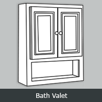 "YBV - York White <br> Bath Valet <br> 21"" x 26"""