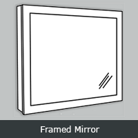 YFM - York White <br>Framed Mirror <br> Multiple Sizes