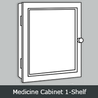 YMC1S - York White <br>Medicine Cabinet <br> Single View <br> Multiple Sizes
