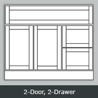 "TW3621 - Tuscany White Vanity <br> 36"" <br>2-Door/2-Drawer"