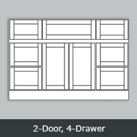 "TW4821D - Tuscany White Vanity <br> 48"" <br>2-Door/4-Drawer  (2)"