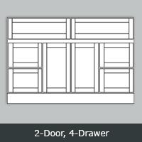 "TW6021D - Tuscany White Vanity <br> 60"" <br> 2-Door/4-Drawer"