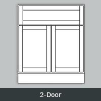 TW2421 - Tuscany White Vanity <br> 2-Door <br> Multiple Sizes