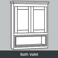 """TWBV - Tuscany White <br> Bath Valet <br> 21"""" x 26"""""""