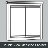 """TWDV - Tuscany White <br>Double-View <br> 24"""" <br> Medicine Cabinet"""