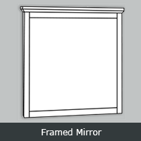 TWFM - Tuscany White <br> Framed Mirror<br> Multiple Sizes
