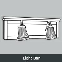 TWLB - Tuscany White <BR> Light Bar<br> Multiple Sizes