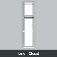 TWLC - Tuscany White <br> Linen Closet <br> Multiple Sizes